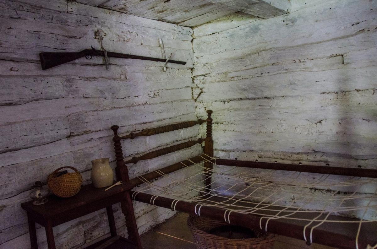 Bedroom, George Gilbert's cabin, freedman's cabin