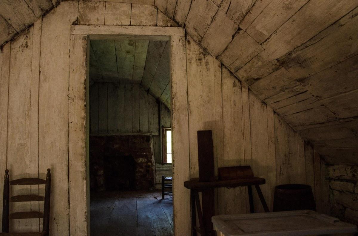 Second floor, George Gilbert's cabin, freedman's cabin