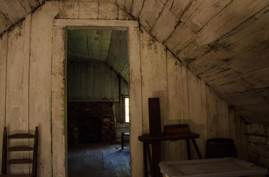 Second floor, George Gilbert's cabin, freedman's cabin