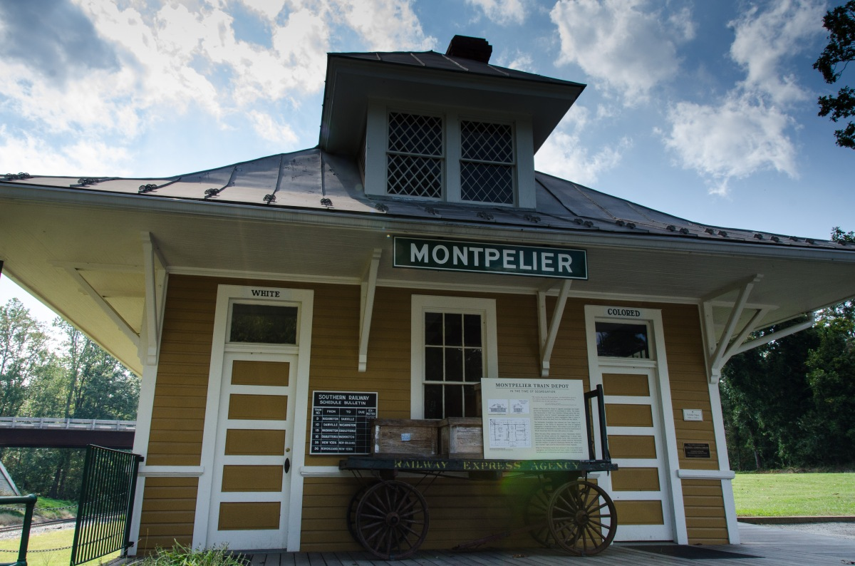 Montpelier train depot, a witness of segregation