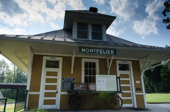 Montpelier train depot, a witness of segregation