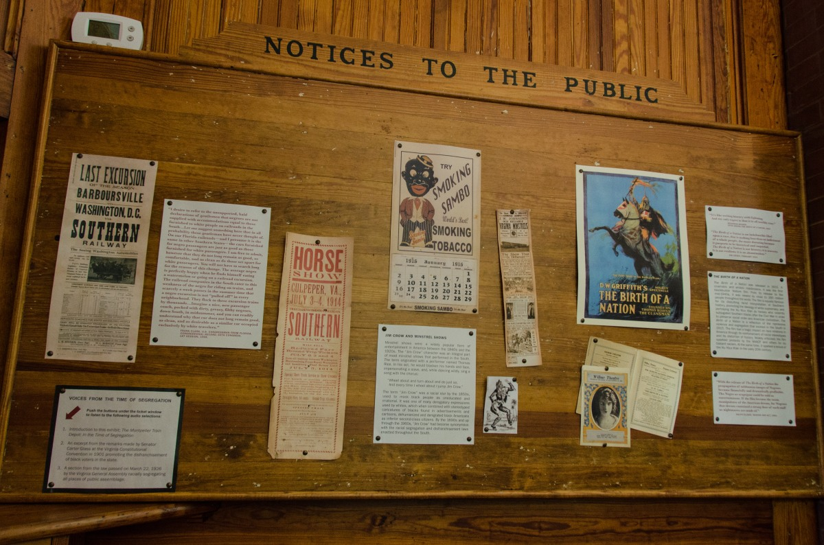 Announcements at the Montpelier Train Depot