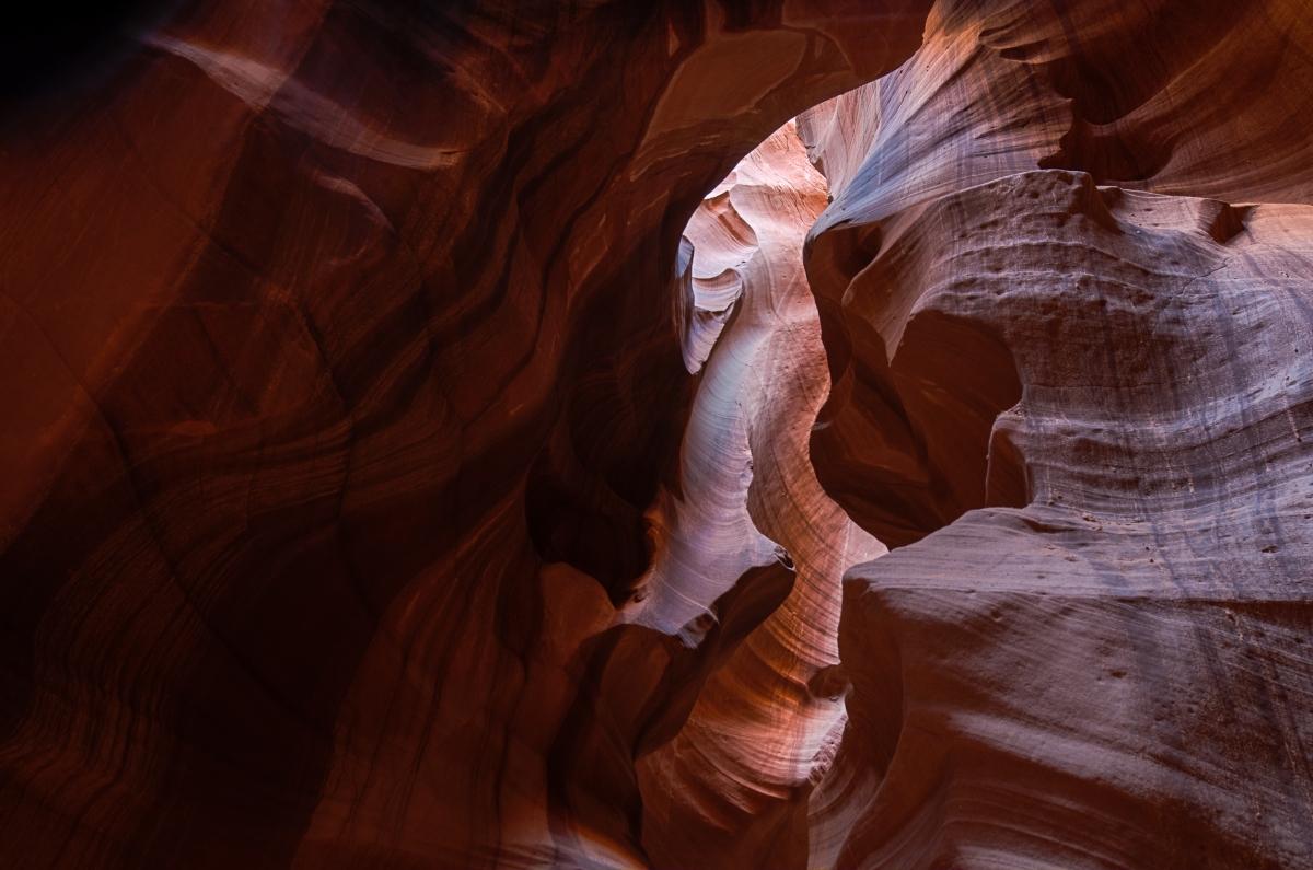 Walls closing in, Antelope Canyon, Navajo Lands, near Page, AZ