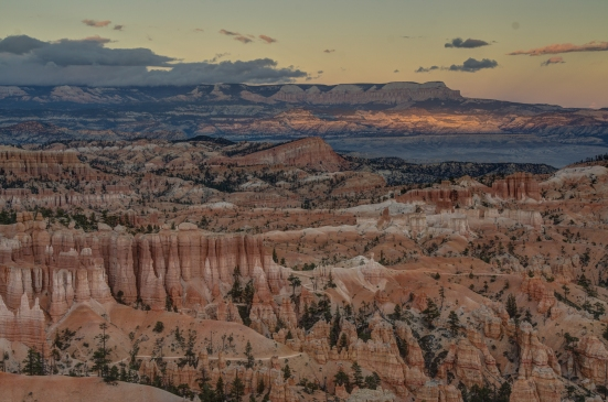 Battleship rock at the Sunset Point view at Bryce Canyon National Park