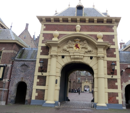 Gate to the Binnenhof, the Hague