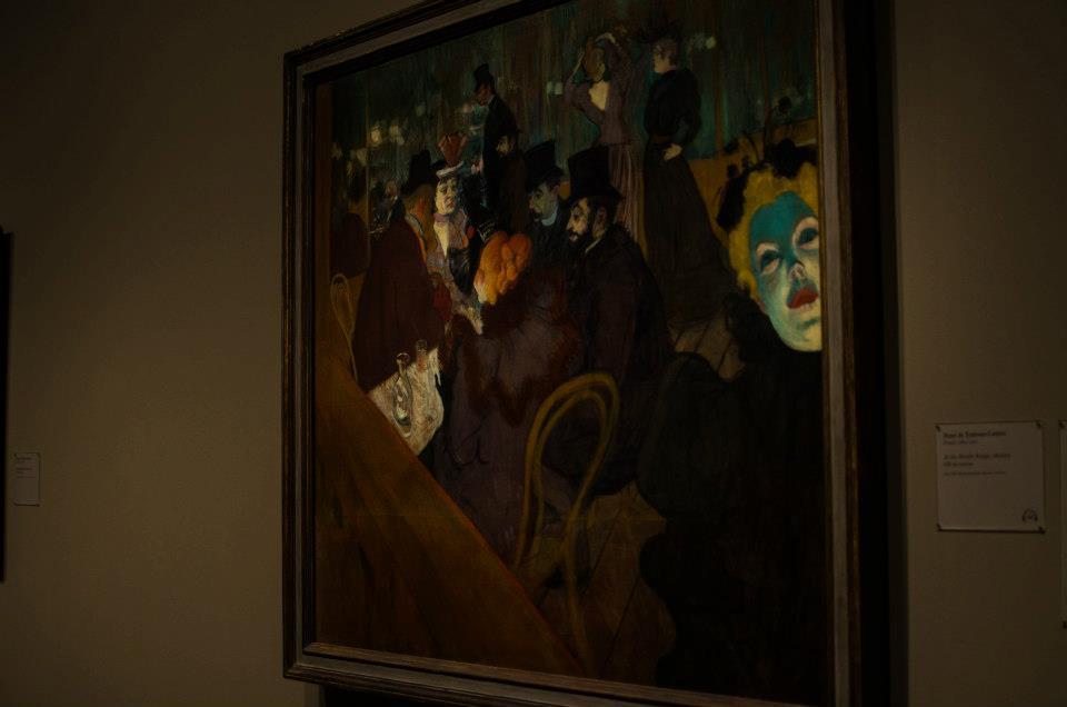 Henri de Toulouse-Lautrec's At the Moulin Rouge