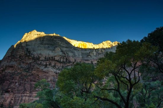 Sunset at Zion National Park
