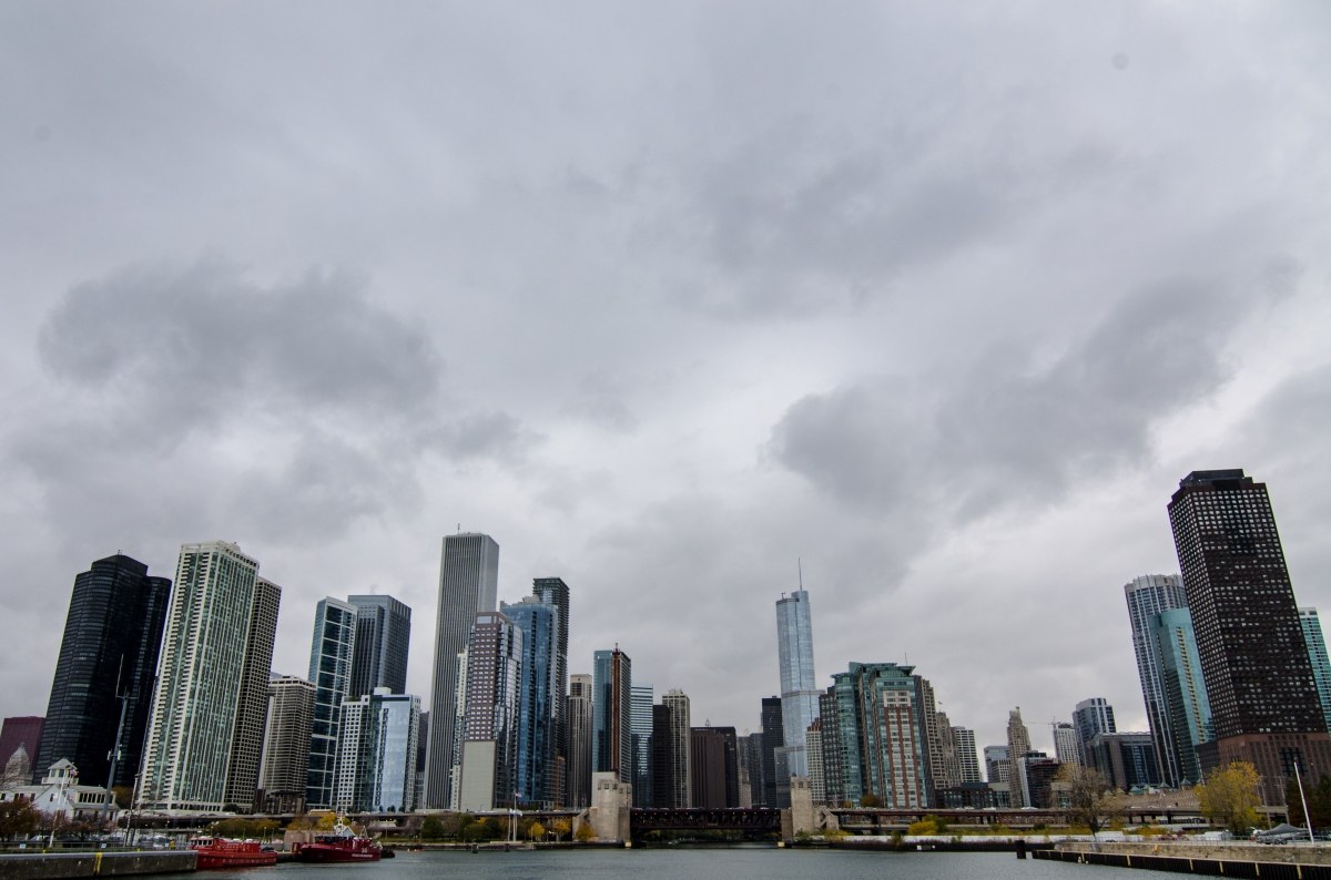 Chicago's skyline from the river