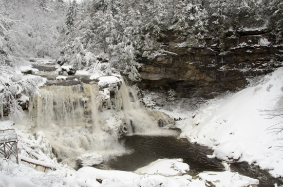 Blackwater Falls on a winter day