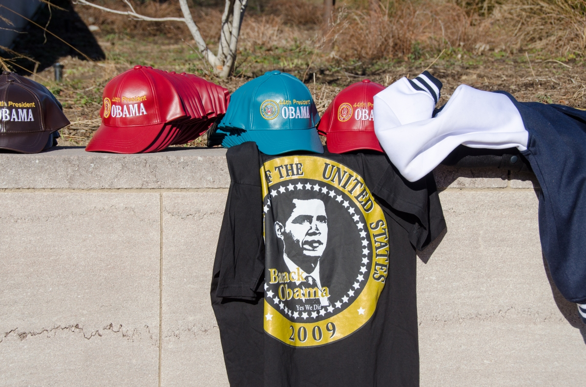 Obama 2013 hats and shirts