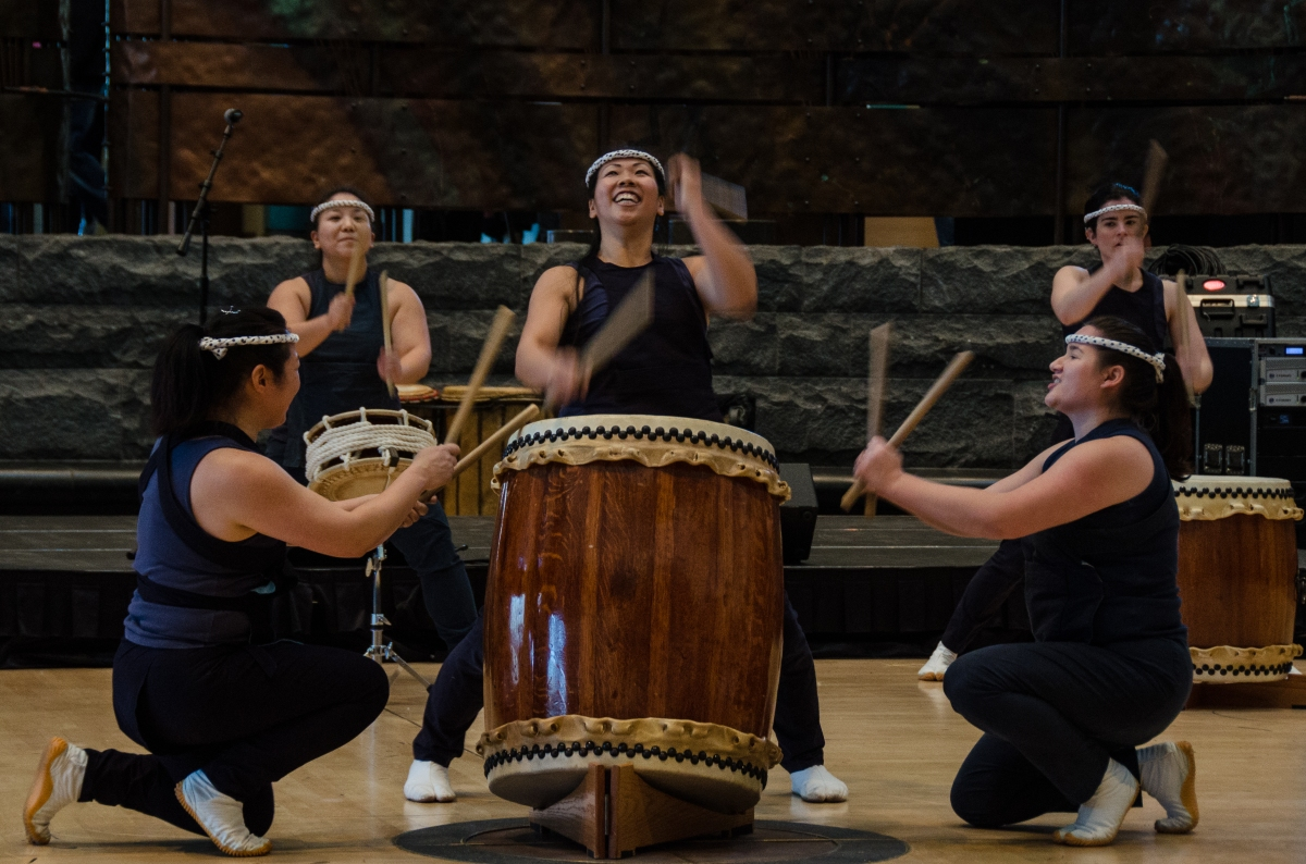 2013 inauguration, National Museum of the American Indian, Japanese drummers