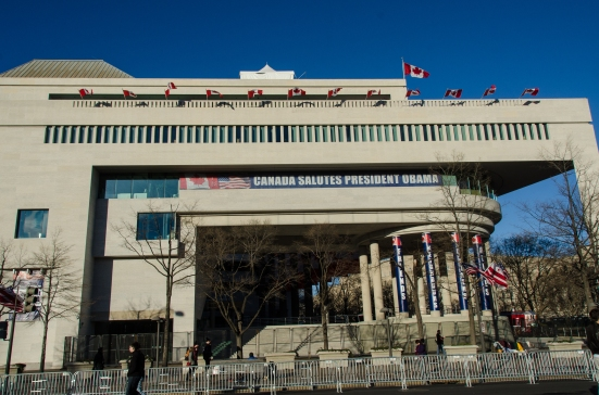 The Canadian Embassy in Washington DC ready for the 2013 inauguration