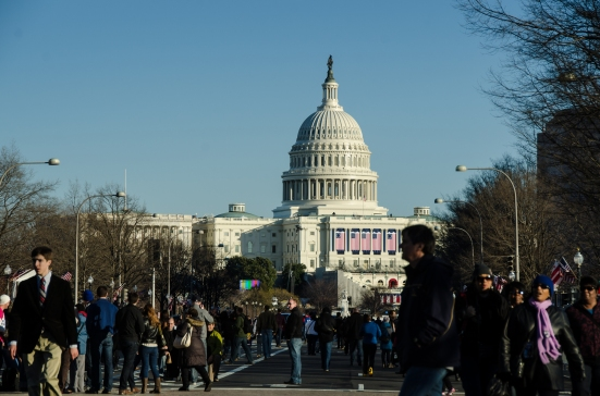2013 inauguration, Pennsylvania Avenue and the US Capitol