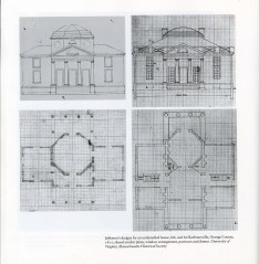 Drawings of the octagon, Barboursville Vinyards