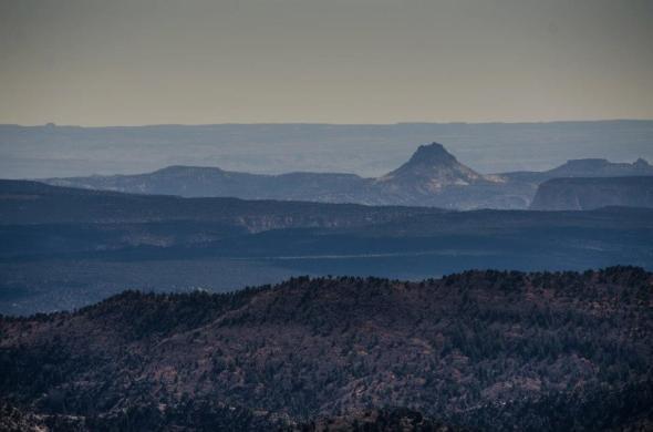 A volcano at a distance, Arizona