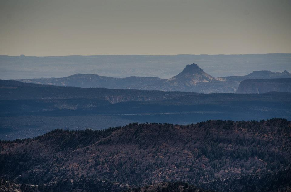 A volcano at a distance, Arizona