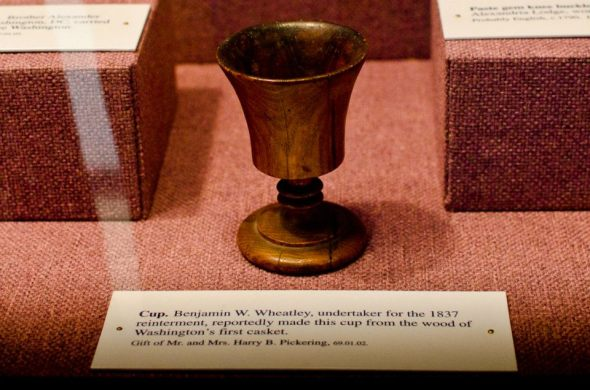 Chalice made from George Washington's casket