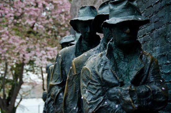Cherry Blossoms, FDR Memorial, Washington DC