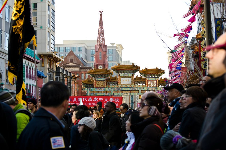 Crowd at the DC Chinese Lunar New Year Parade