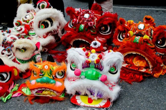 Dragon heads, awaiting