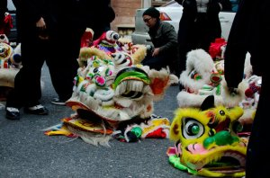 Dragon heads, Chinese Lunar New Year Parade
