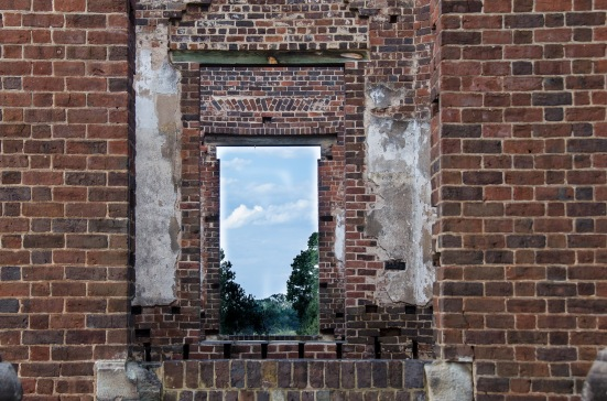 Empty doors of Barboursville Ruins, Virginia