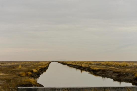 River flowing into endlessness, Bear River Migratory Bird Refuge