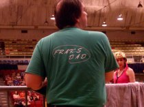 Frak's Dad at DC Rollergirls Championship game