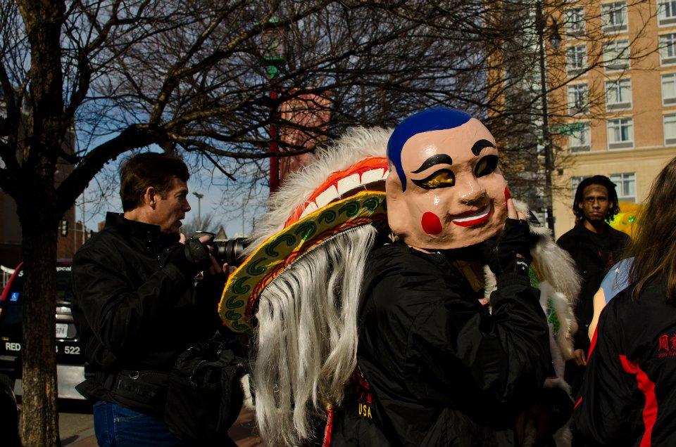 Masks, DC Chinese Lunar New Year Parade preparations