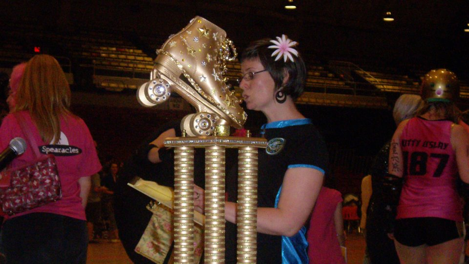The trophy for DC Rollergirls, roller derby