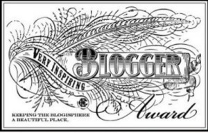 Very Inspirational Blogger Award badge