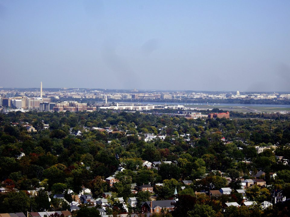 View of DC: George Washington Masonic Memorial observation deck view