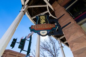 Weatherford Hotel sign, Flagstaff, Arizona