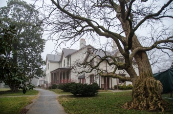 A view of the Lincoln Cottage on the grounds of the Soldiers' Home