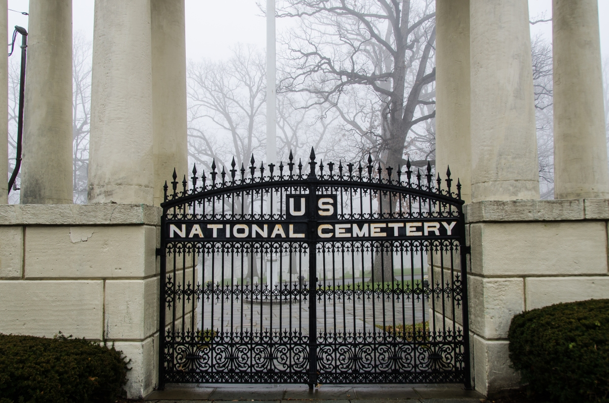 Gates of the National Cemetery, Washington DC