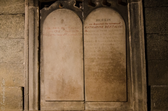 Grave in the catacombs of the Westminster Hall and Burial Ground, Baltimore