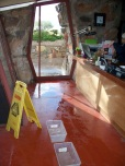 Roofs of Taliesin West leaking after snow, Scottsdale