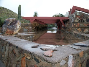 Taliesin West after snow and rain, Scottsdale
