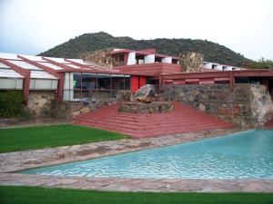 Taliesin West in grey weather, Scottsdale