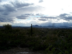 Late afternoon views from Taliesin West, Paradise Valley, Scottsdale, AZ