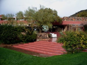 Taliesin West terrace, after rain