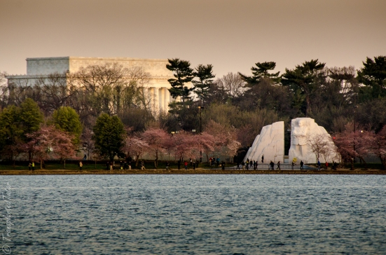 The Lincoln Memorial and the Martin Luther King, Jr. Memorials during sunrise