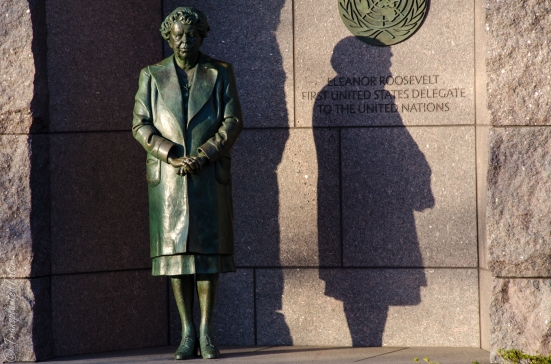 Eleanor Roosevelt at the Franklin Delano Roosevelt memorial