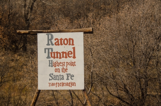 Raton Tunnel, along Amtral train route