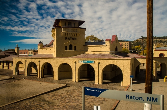 Raton, NM, along Amtrak train tracks