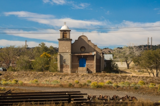 Church along Southwest Chief route, Amtrak
