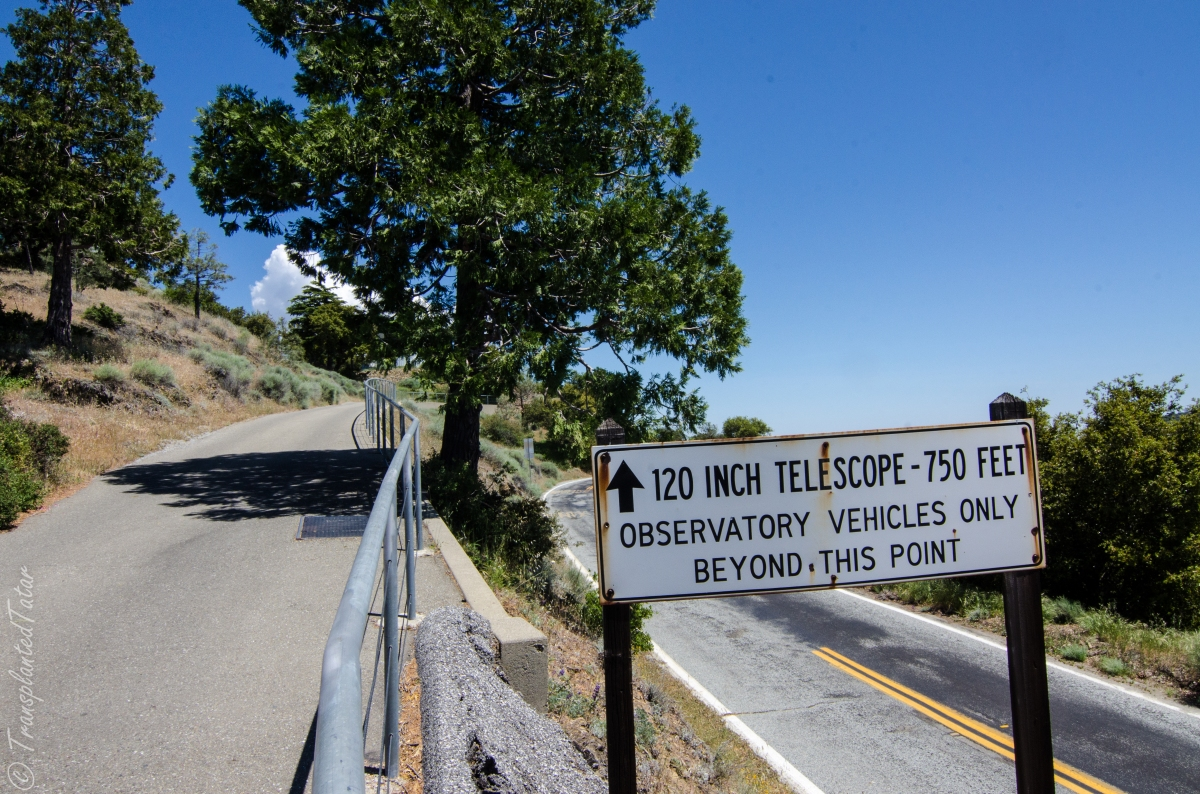Sign to Lick Observatory, Mount Hamilton, California