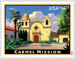 Carmel Mission Express Mail stamp