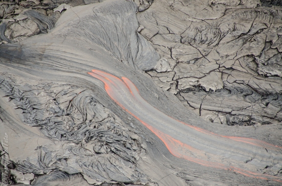 Lava flow of the Kilauea Volcano, Hawaii