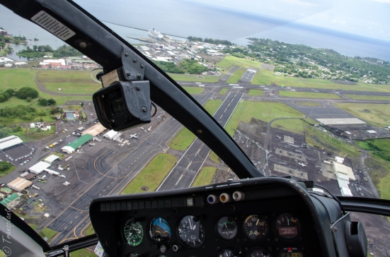 Helicopter back to the Hilo Airport